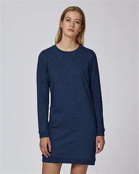 Stella KICKS dámské šaty z biobavlny - modrá black heather blue