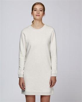 Stella KICKS dámské šaty z biobavlny - sv. šedá cream heather grey