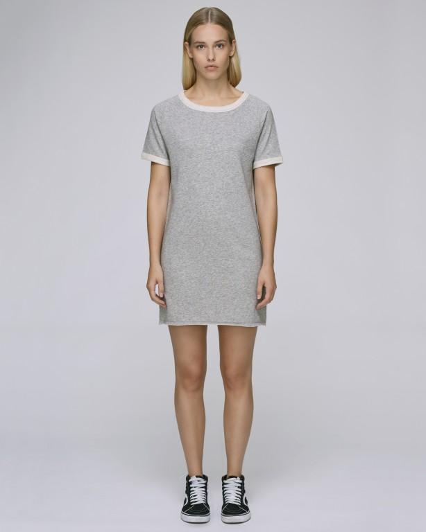 Stella TENDERS dámské šaty z biobavlny - šedá heather grey 30denni ... b43a61561fe