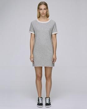 Stella TENDERS dámské šaty z biobavlny - šedá heather grey