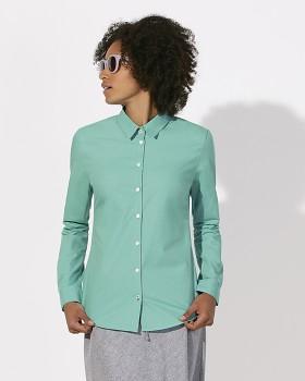 Stella SHINES dámská košile s dlouhými rukávy ze 100% biobavlny - mátová