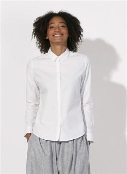 Stella SHINES dámská košile s dlouhými rukávy ze 100% biobavlny - bílá