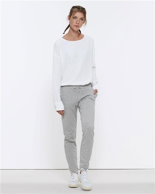 8cc9ff35508 Stella TRACES dámské teplákové kalhoty z biobavlny - světle šedá heather  grey
