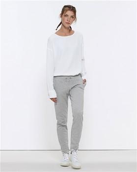 Stella TRACES dámské teplákové kalhoty z biobavlny - světle šedá heather grey