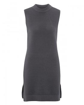 AKZENT Dámské šaty z biobavlny a konopí - tmavě šedá antracit