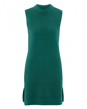 AKZENT Dámské šaty z biobavlny a konopí - zelenomodrá spruce