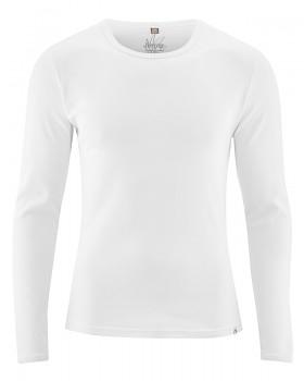 HAL  pánské triko s dlouhými rukávy z biobavlny a konopí - bílá