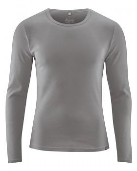 HAL  pánské triko s dlouhými rukávy z biobavlny a konopí - šedohnědá taupe