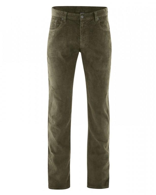HORST pánské manšestrové kalhoty z konopí a biobavlny - khaki wolf ... b3dcc3fb07