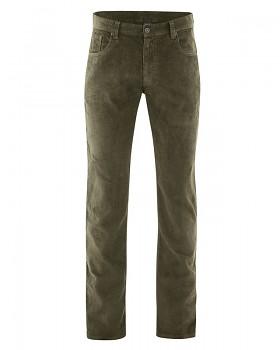 HORST pánské manšestrové kalhoty z konopí a biobavlny - khaki wolf