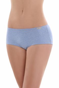 Comazo Earth Dámské bokové kalhotky panty z biobavlny - světle modrá melange