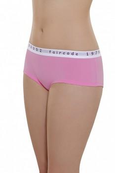 Comazo Earth Dámské bokové kalhotky Faircode z biobavlny - růžová