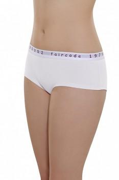 Comazo Earth Dámské bokové kalhotky Faircode z biobavlny - bílá