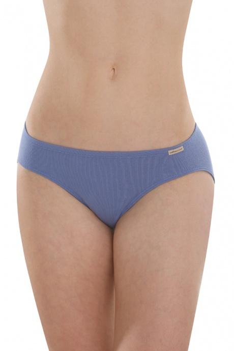 Comazo Earth Dámské klasické kalhotky (mini slip) ze 100% biobavlny - modrá  jeans d6adcce348