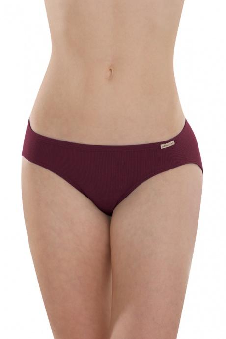 Comazo Earth Dámské klasické kalhotky (mini slip) ze 100% biobavlny -  fialová burgund 2fa4b97523