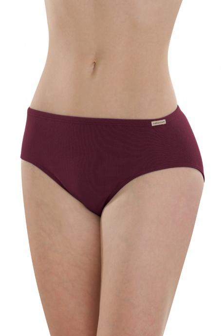 Comazo Earth Dámské klasické kalhotky (jazz panty) ze 100% biobavlny -  fialová burgund 0fd5b04511