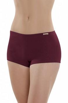 Comazo Earth Dámské bokové kalhotky ze 100% biobavlny - fialová burgund