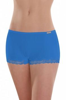 Comazo Earth Dámské kalhotky hipster s krajkou z biobavlny - modrá chrpová
