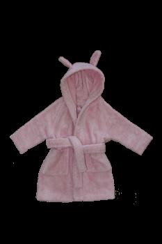 HOOD dětský župan ze 100% biobavlny - růžová cloud pink