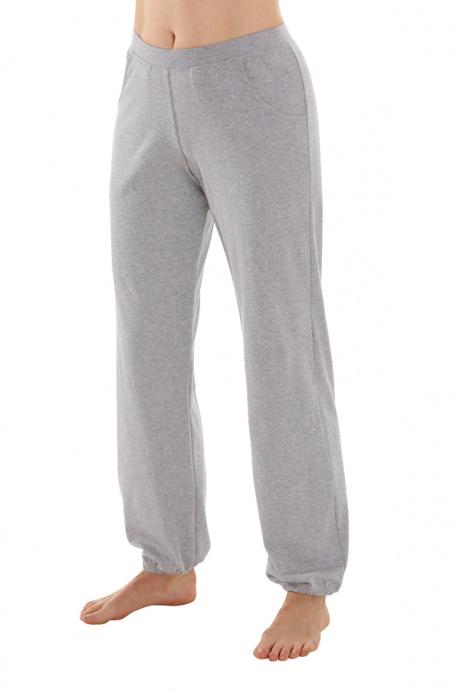4ea0c7689f7 Comazo Earth Dámské teplákové kalhoty s manžetou ze 100% biobavlny - šedá  melange