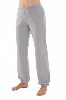 Comazo Earth Dámské teplákové kalhoty s manžetou ze 100% biobavlny - šedá melange