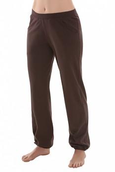 Comazo Earth Dámské teplákové kalhoty s manžetou ze 100% biobavlny - hnědá čokoládová