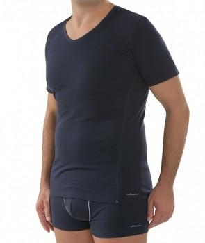 COMAZO EARTH Pánské tričko s krátkými rukávy z biobavlny - tmavě modrá navy