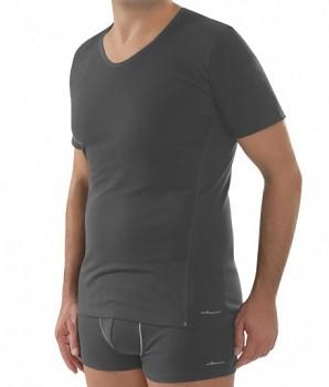 COMAZO EARTH Pánské tričko s krátkými rukávy z biobavlny - tmavě šedá antracit