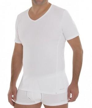 COMAZO EARTH Pánské tričko s krátkými rukávy z biobavlny - bílá