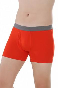 COMAZO EARTH Pánské boxerky s nohavičkami z biobavlny - červená ziegel