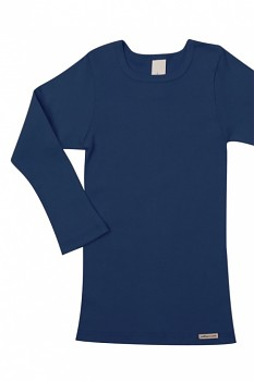 Comazo Earth dětské tričko s dlouhými rukávy ze 100% biobavlny - tmavě modrá marine