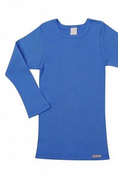Comazo Earth dětské tričko s dlouhými rukávy ze 100% biobavlny - modrá see