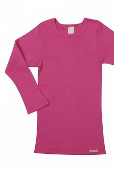 Comazo Earth dětské tričko s dlouhými rukávy ze 100% biobavlny - růžová clematis