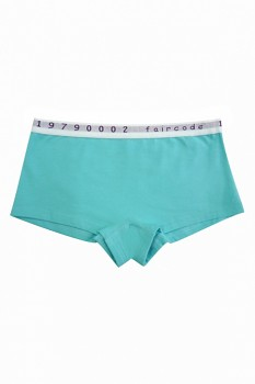 Comazo Earth FAIRCODE dívčí kalhotky (hipster) z biobavlny - světle modrá lagune