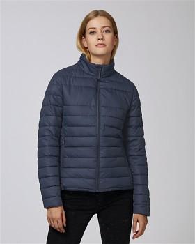 Stella WALKS LONG dámská prošívaná bunda z recyklovaného polyesteru - tmavě modrá navy