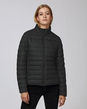 Stella WALKS LONG dámská prošívaná bunda z recyklovaného polyesteru - černá