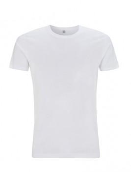 Pánské tričko slimfit s krátkými rukávy z 100% biobavlny - bílá