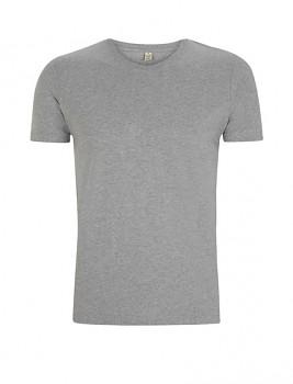Pánské tričko slimfit s krátkými rukávy z 100% biobavlny - šedá melange
