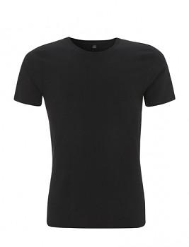 Pánské tričko slimfit s krátkými rukávy z 100% biobavlny - černá