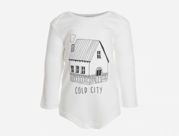 COLD CITY dětské body s dlouhými rukávy ze 100% biobavlny