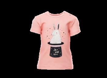 ABRAKADABRA dětské tričko s krátkými rukávy ze 100% biobavlny - růžová