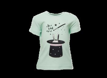 ABRAKADABRA dětské tričko s krátkými rukávy ze 100% biobavlny - zelená