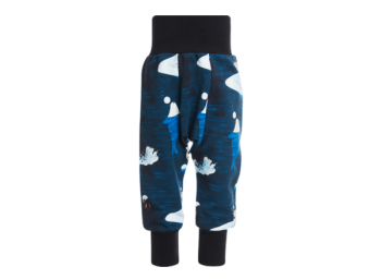 ARCTIC GAME kojenecké fleesové kalhoty z biobavlny - tmavě modrá