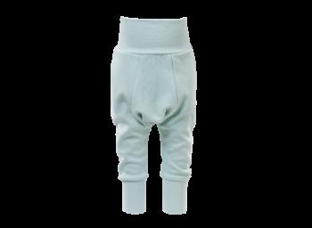 BAGGY kojenecké úpletové kalhoty ze 100% biobavlny - svetle zelená