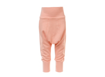 BAGGY kojenecké úpletové kalhoty ze 100% biobavlny - broskvová