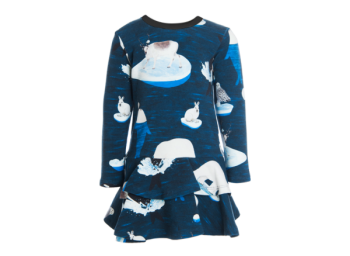 ARCTIC GAME dívčí šatičky z biobavlny - tmavě modrá