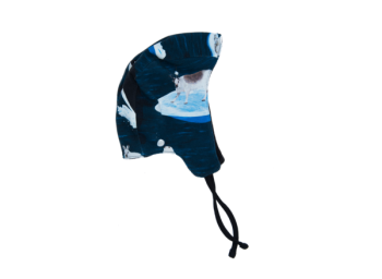 ARCTIC GAME kojenecká fleesová čepička z biobavlny - tmavě modrá