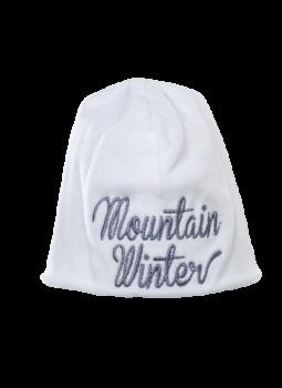 MOUNTAIN WINTER kojenecká velurová čepička ze 100% biobavlny