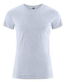 BRISCO pánské tričko z biobavlny a konopí - bledě modrá clear