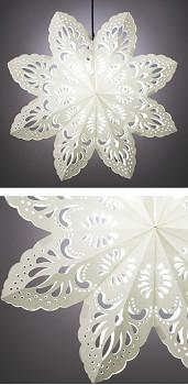 VÁNOČNÍ HVĚZDA - lampové stínídlo bílé
